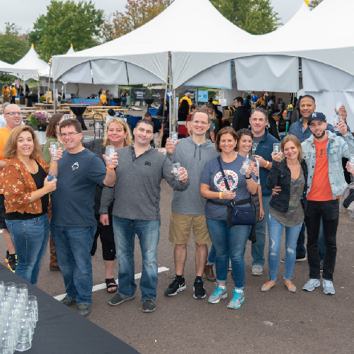 Group of people at a beerfest